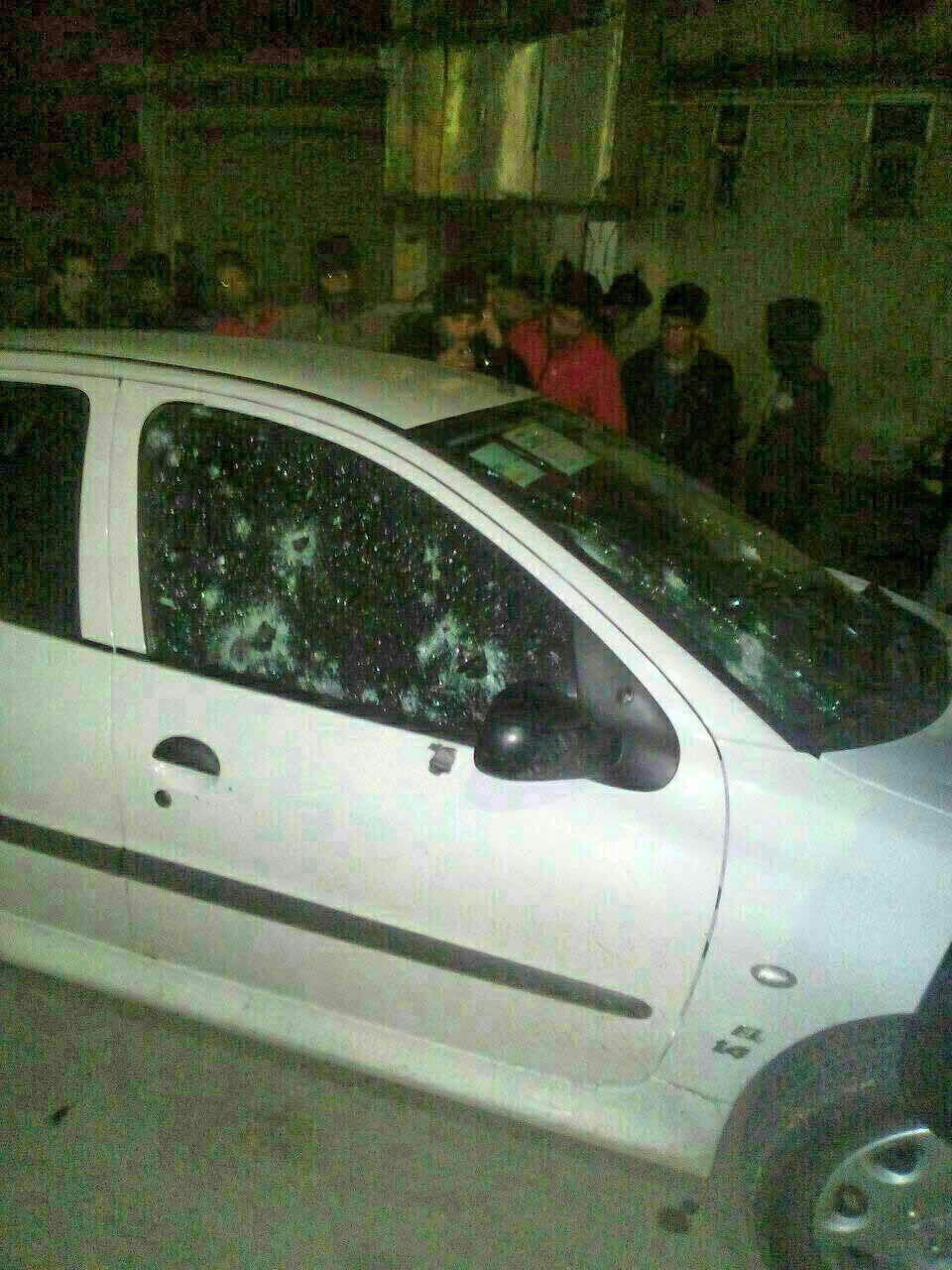 ماشین ملی پوش کشتی گلوله باران شد(+عکس)
