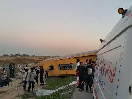 واژگونی اتوبوس زائران کربلا در جاده اهواز/ وضعیت 4 مصدوم وخیم است