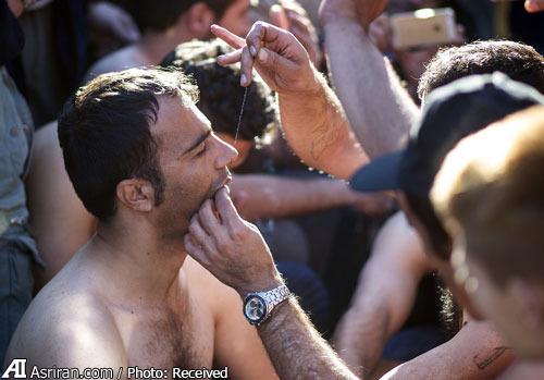 لب دوزی پناهجویان ایرانی درمرز یونان و مقدونیه(+عکس)