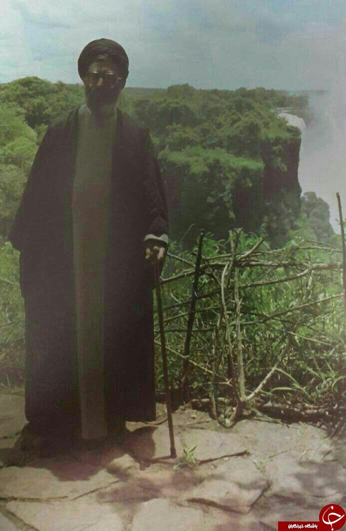 رهبر انقلاب در کنار آبشار ویکتوریا (+ عکس)