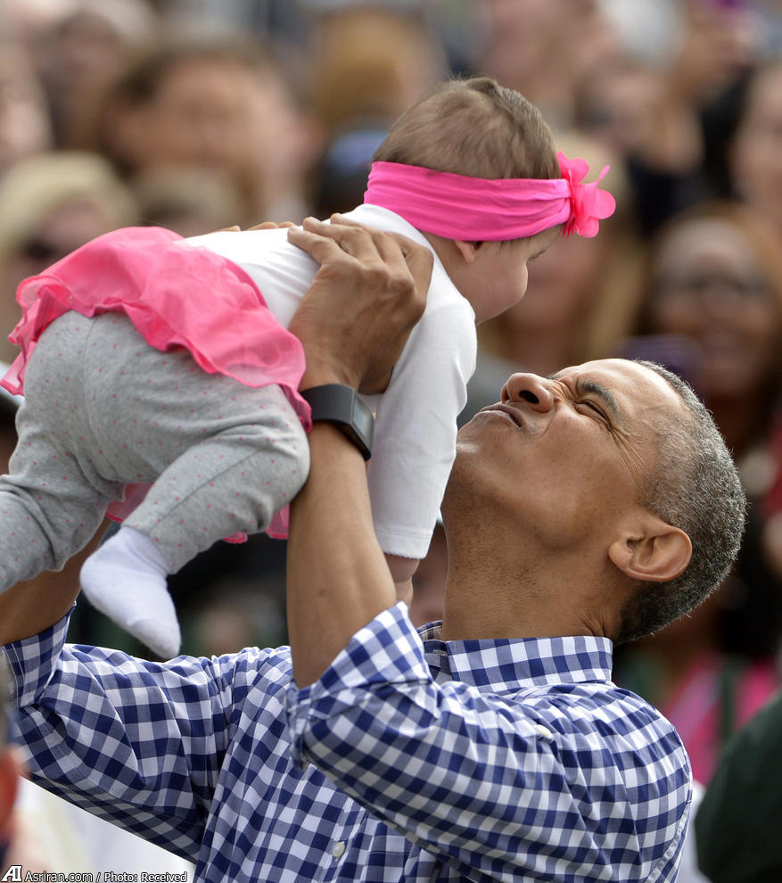 اوباما در عید پاک کاخ سفید (عکس)