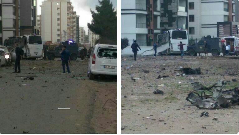 انفجار در دیاربکر ترکیه / 7 زخمی (+عکس)
