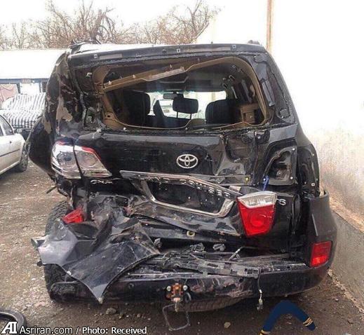 تصادف شدید تویوتا لنکروز (عکس)