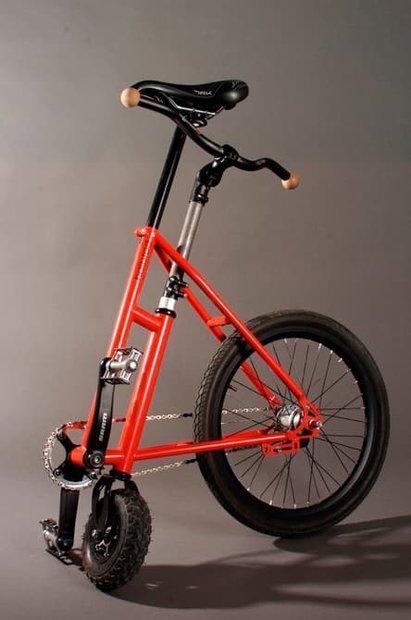 نیم دوچرخه ساخته شد