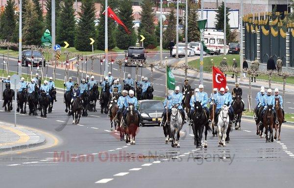 اسکورت عجیب خودروی شاه عربستان در ترکیه (+عکس)