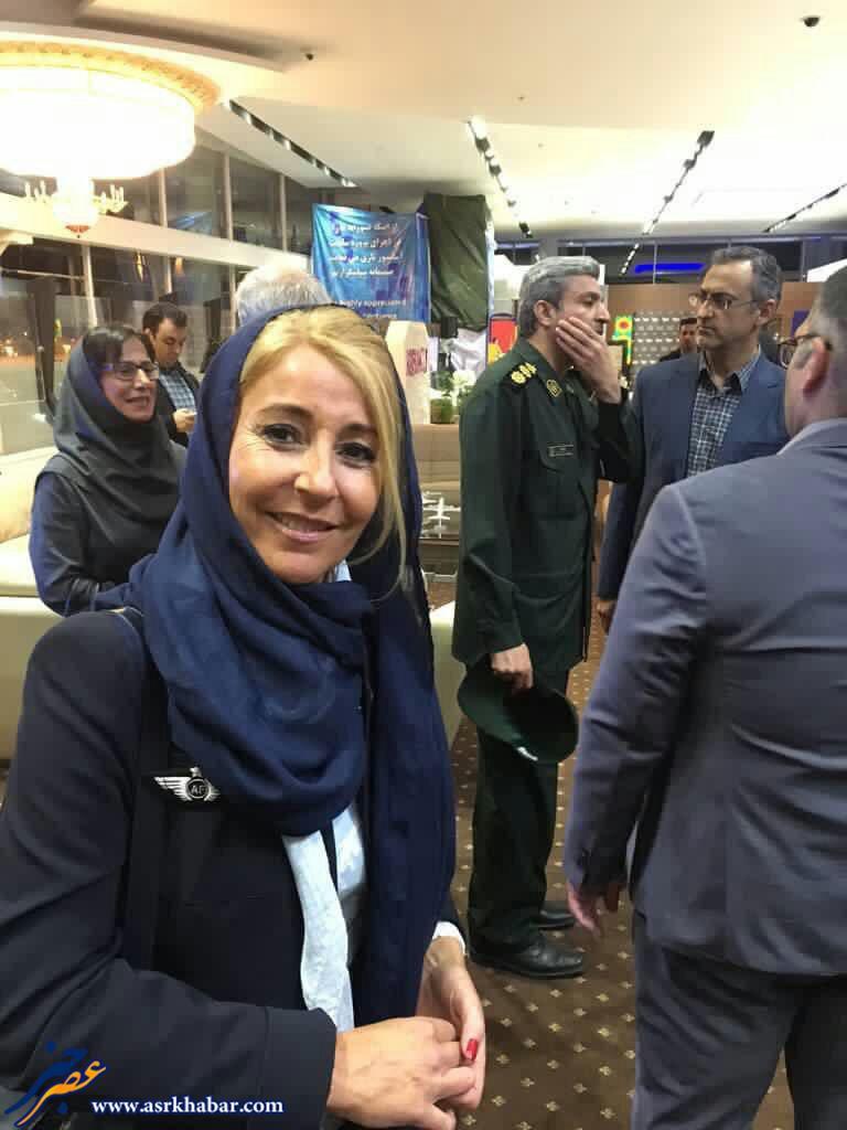 حجاب خدمه هواپيماى ايرفرانس در تهران (عکس)