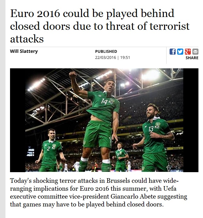 جیانکارلو آبته؛ ممکن است یورو 2016 پشت درهای بسته برگزار شود