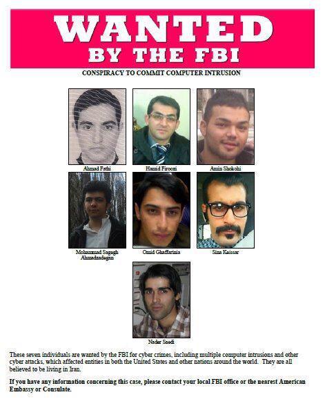 شکایت دولت امریکا از 7 ایرانی به اتهام حملات سایبری
