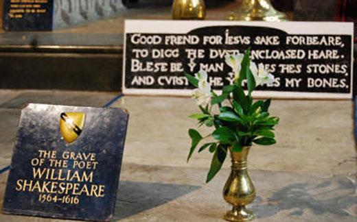 جمجمه شکسپیر در قبرش نیست! (+ عکس)