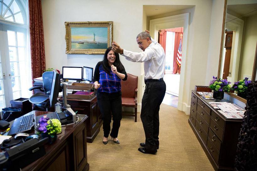 رقص ایرانی اوباما (عکس)