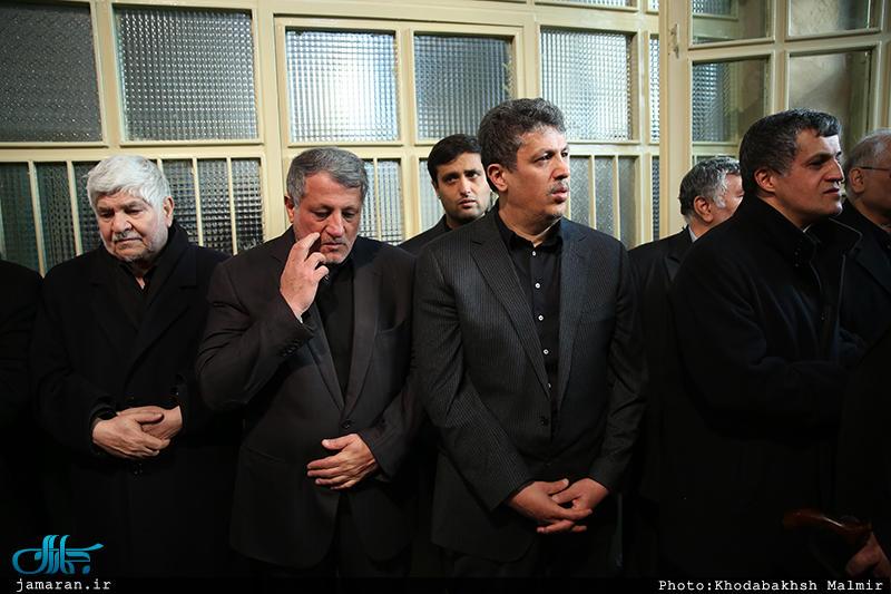 پسران آیت الله هاشمی در مراسم وداع با پیکر پدر (عکس)