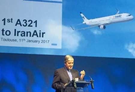 مدیرعامل ایران ایر در مراسم تحویل اولین هواپیمای سفارشی از ایرباس: امروز روز بزرگی برای ارتباط ایران و اتحادیه اروپاست