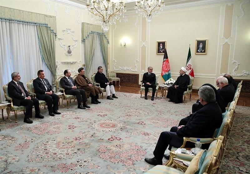 دیدار رئیس اجرایی دولت افغانستان با روحانی (عکس)