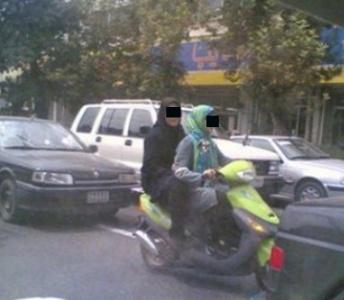 دستگیری دختران موتور سوار اهوازی