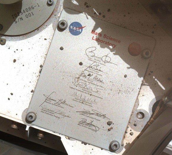 امضای اوباما در مریخ ماندگار شد (+عکس)