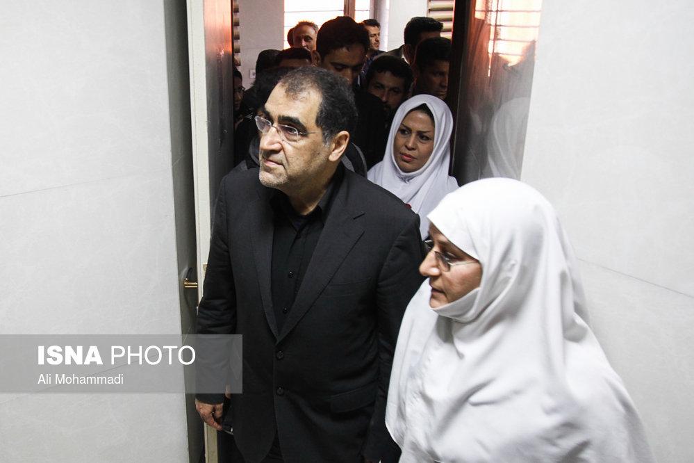 سفر وزیر بهداشت به خوزستان (+عکس)