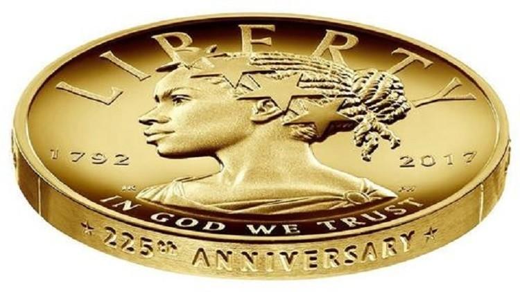 ضرب نخستین سکه با نماد زن سیاهپوست آفریقایی در آمریکا