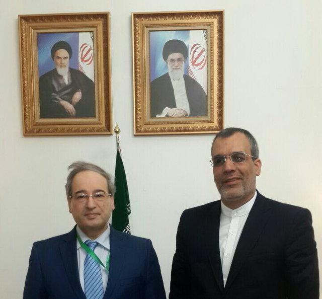دیدار معاون ظریف و قائم مقام وزیر خارجه سوریه در تهران