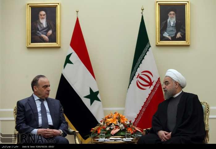 دیدار نخست وزیر سوریه با روحانی (عکس)