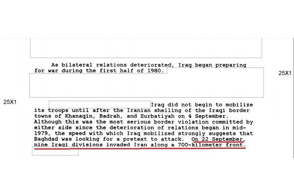 سند محرمانه سازمان سیا: جنگ با ایران را عراق آغاز کرد (+ سند)