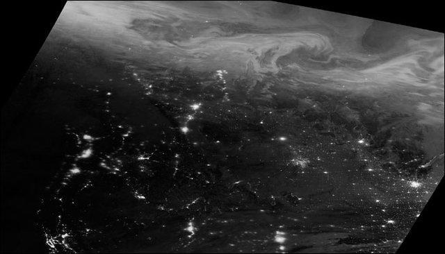 تصویر ناسا از جشن فضا در کوتاهترین شب سال