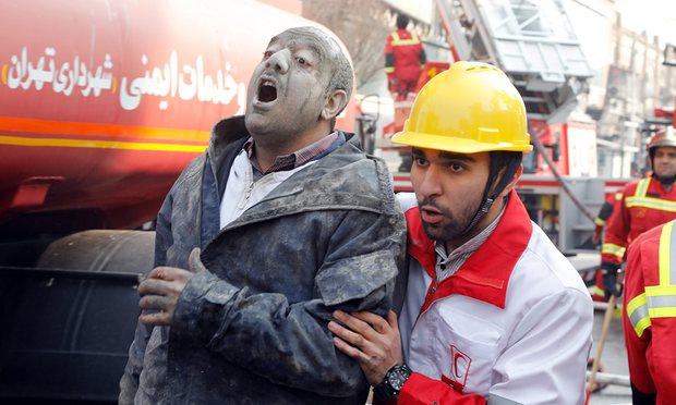 پوشش جهان از حادثه واژگونی اولین برج بلند تهران