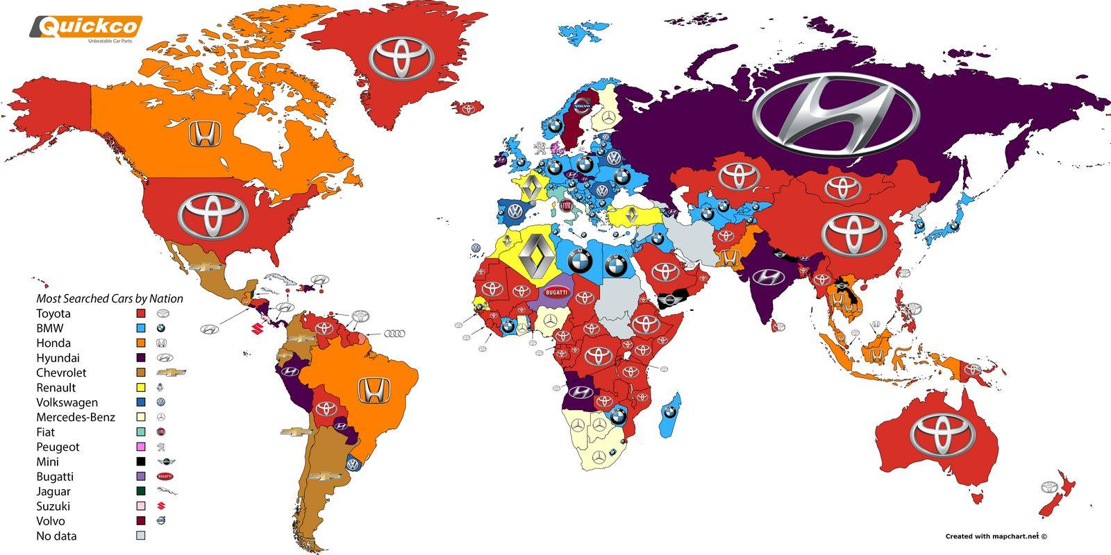 بیشترین برندهای گوگلی در کشورهای جهان