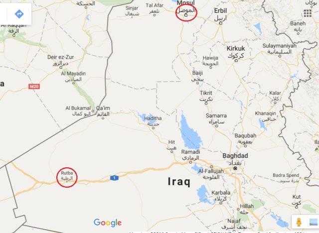 نقشه داعش برای حمله به شهر استراتژیک الرطبه عراق