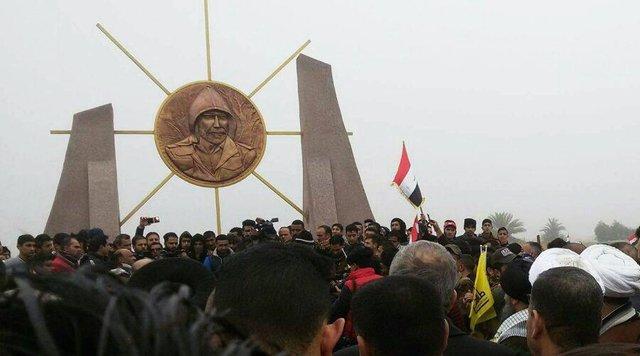 رونمایی از یادمان شهادت سردار سپاه در عراق (+عکس)