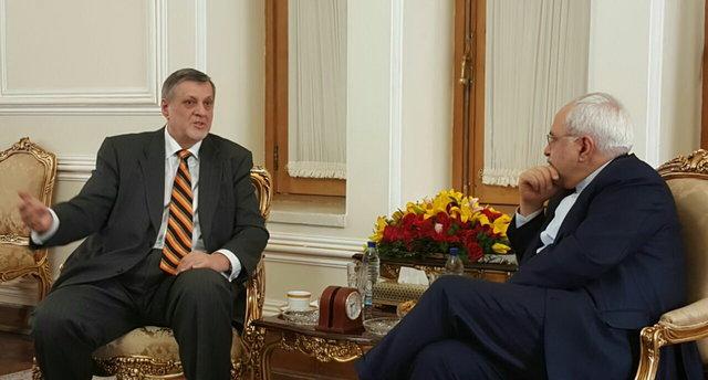 دیدار نماینده ویژه دبیرکل سازمان ملل با ظریف