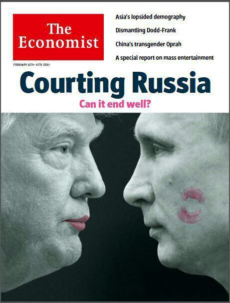 طرح جالب شماره جدید مجله اکونومیست: آخر و عاقبت رابطه نزدیک ترامپ و پوتین!؟