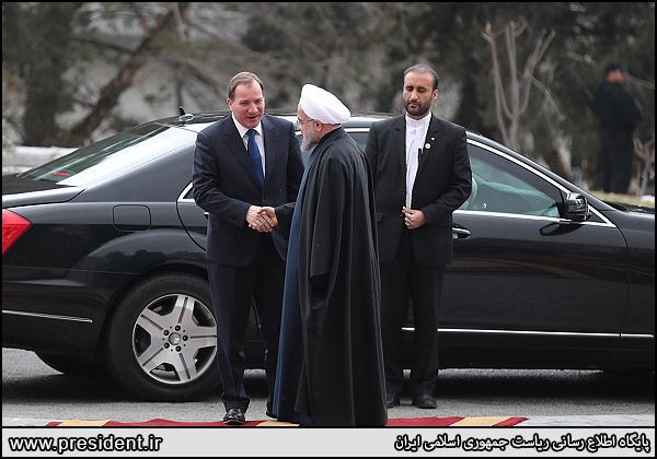 استقبال رسمی روحانی از نخست وزیر سوئد (عکس)