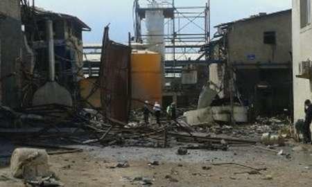 انفجار در شهرک صنعتی دلیجان اصفهان
