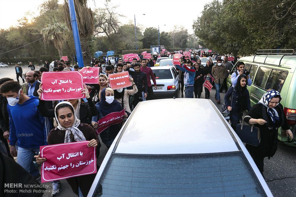 اعتراض مردم خوزستان به مشکلات روزهای اخیر (+عکس)