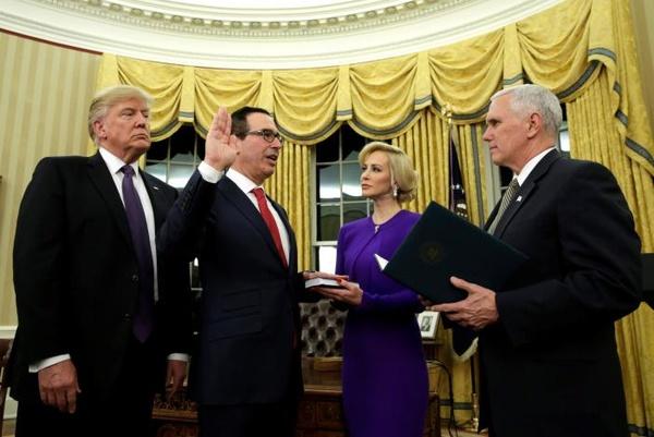 سنای آمریکا گزینه ترامپ برای وزارت خزانهداری را تایید کرد