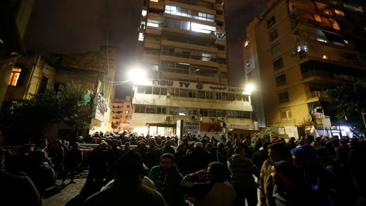 آتش زدن دفتر شبکه تلویزیونی لبنانی به خاطر پخش برنامه کمدی درباره امام موسی صدر