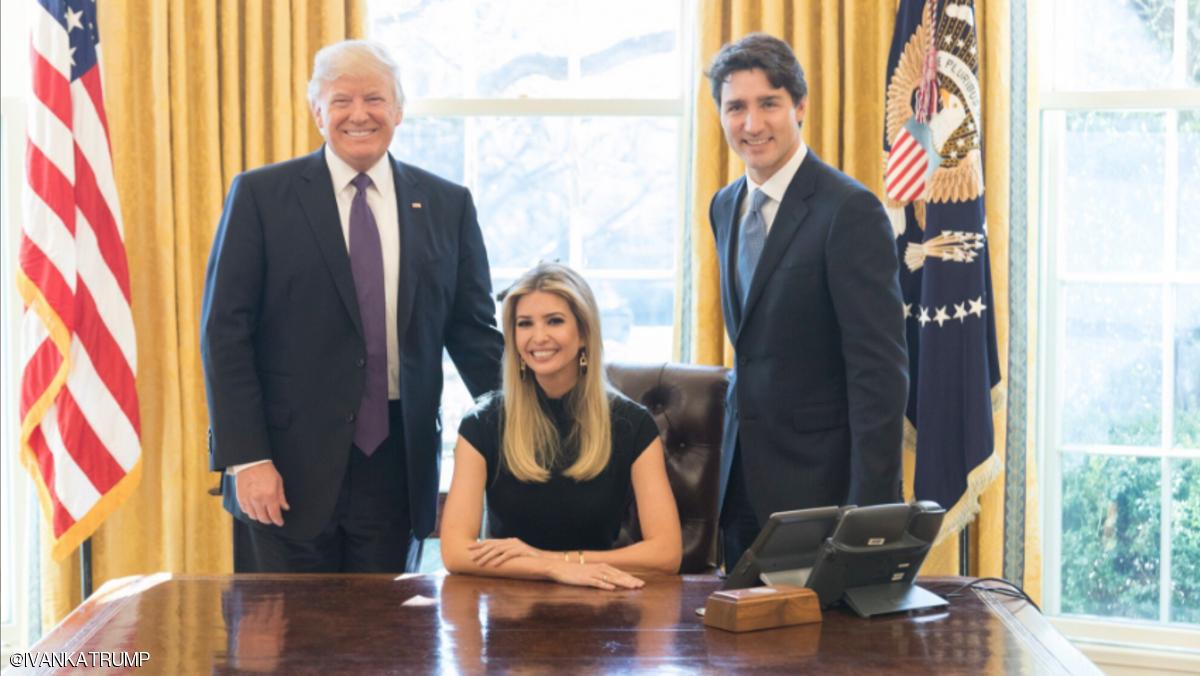 انتقاد از دختر ترامپ به دلیل نشستن بر روی صندلی رئیس جمهور و حضور در ملاقات رسمی