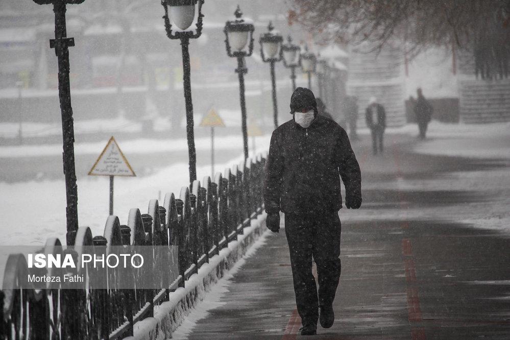 بارش برف در تبریز (+عکس)
