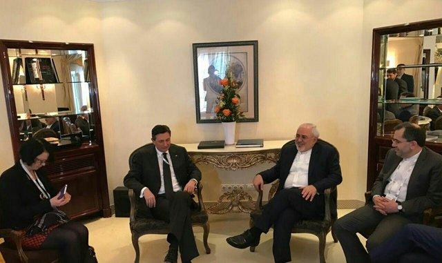 دیدار ظریف با رییس جمهور اسلوونی