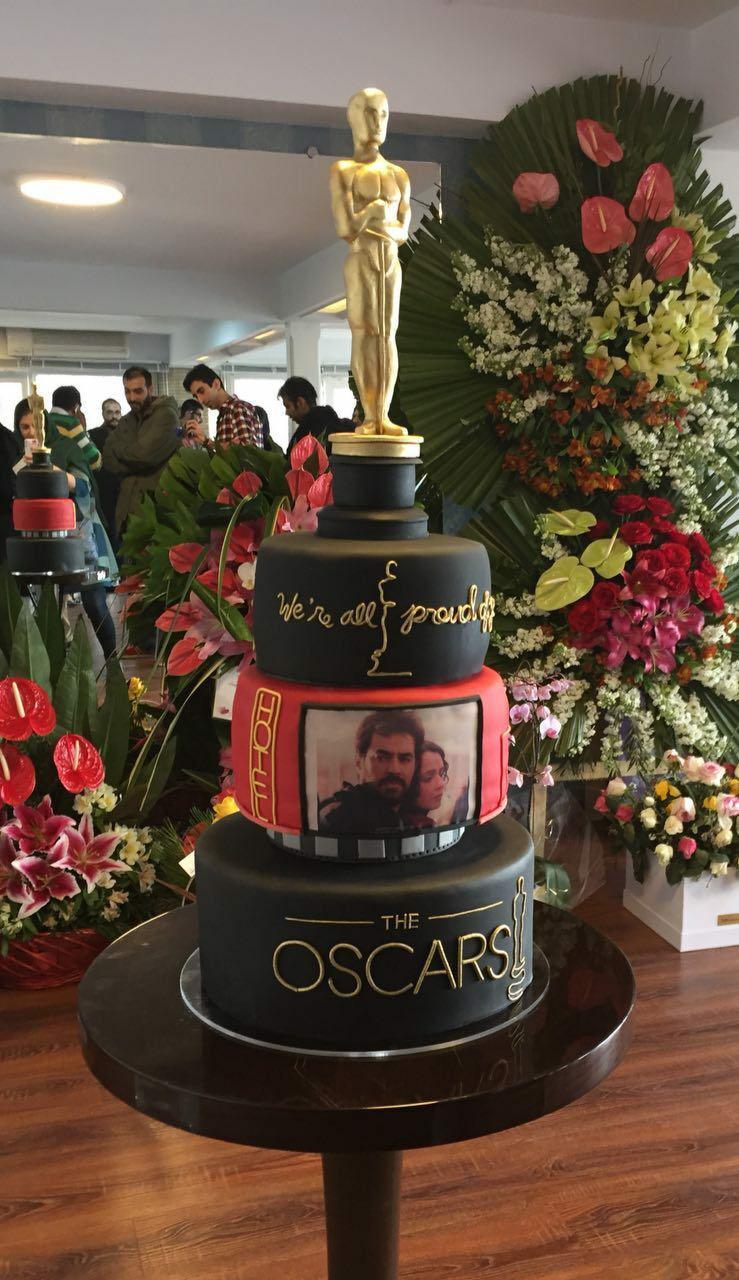 کیک متفاوت مراسم تقدیر از اصغر فرهادی (عکس)