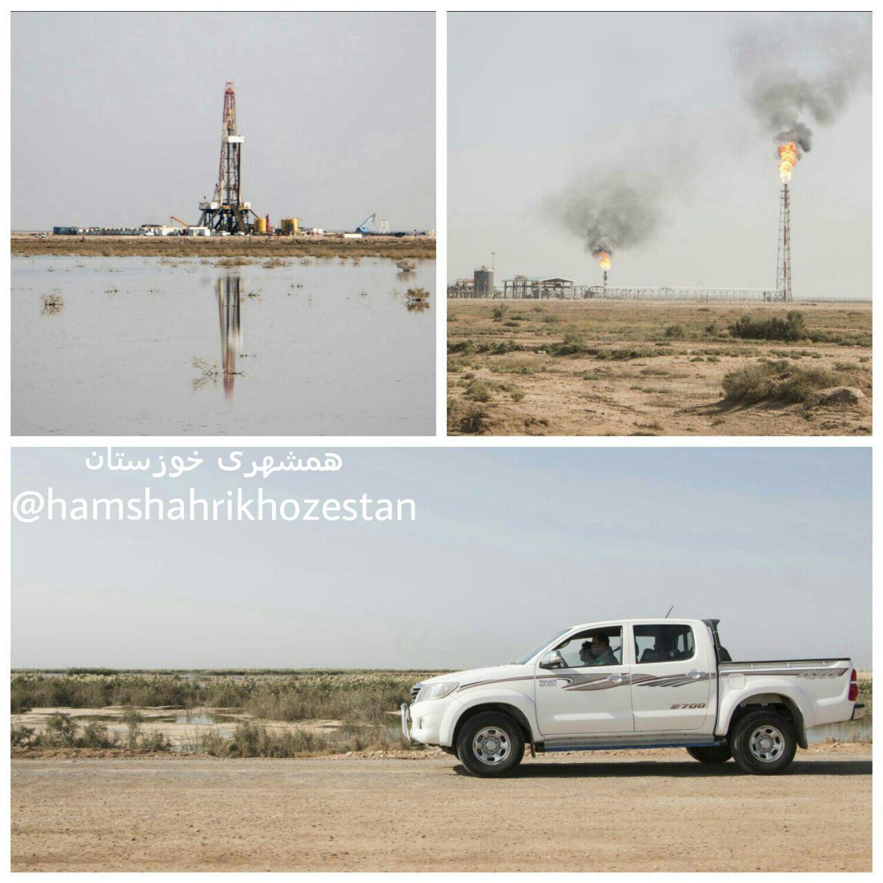 هورالعظیم در برابر نفت زانو زد / فعالان محیط زیست منتظر ورود دادگستری هستند