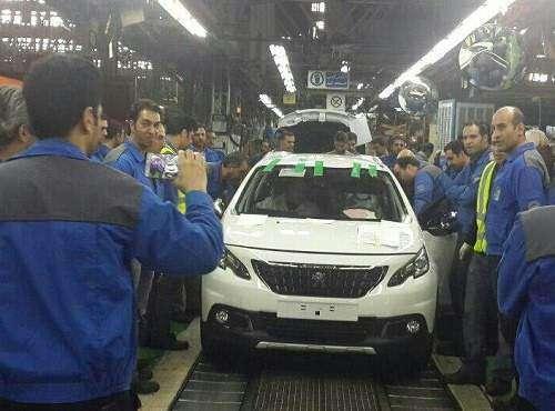 اولین پژو 2008 ایران خودرو تولید شد( (+عکس)