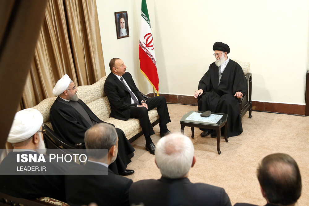 دیدار رییس جمهور آذربایجان با مقام معظم رهبری (+عکس)
