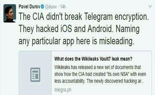 واکنش مدیر تلگرام به هک شدن توسط سیا