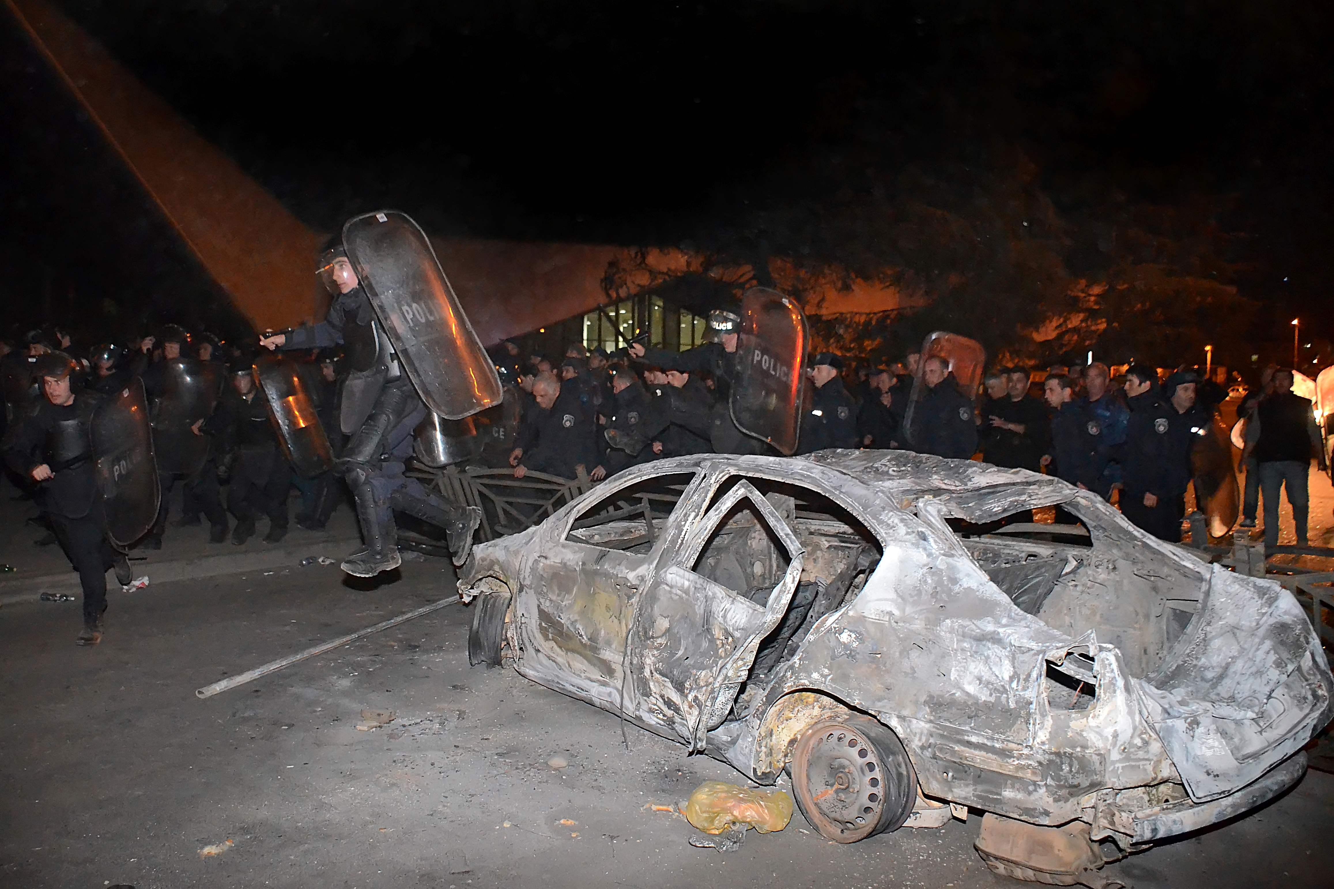 تظاهرات علیه جریمههای سنگین رانندگی در گرجستان