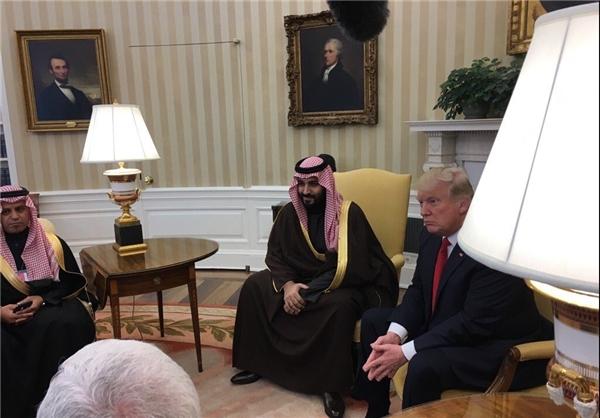 دیدار وزیر دفاع عربستان با ترامپ در کاخ سفید (عکس)