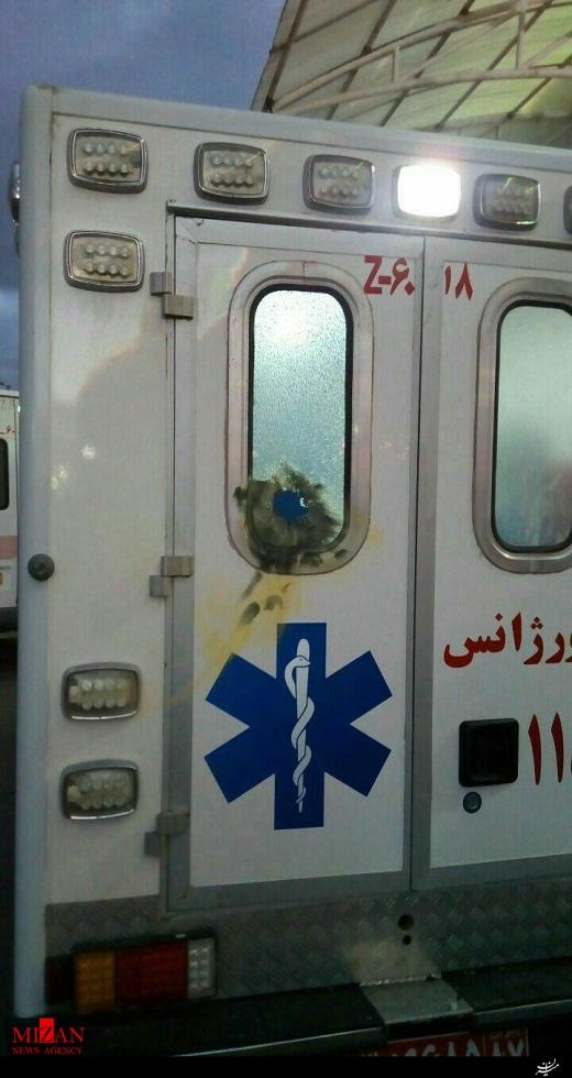 پرتاب نارنجک به آمبولانس اورژانس (عکس)