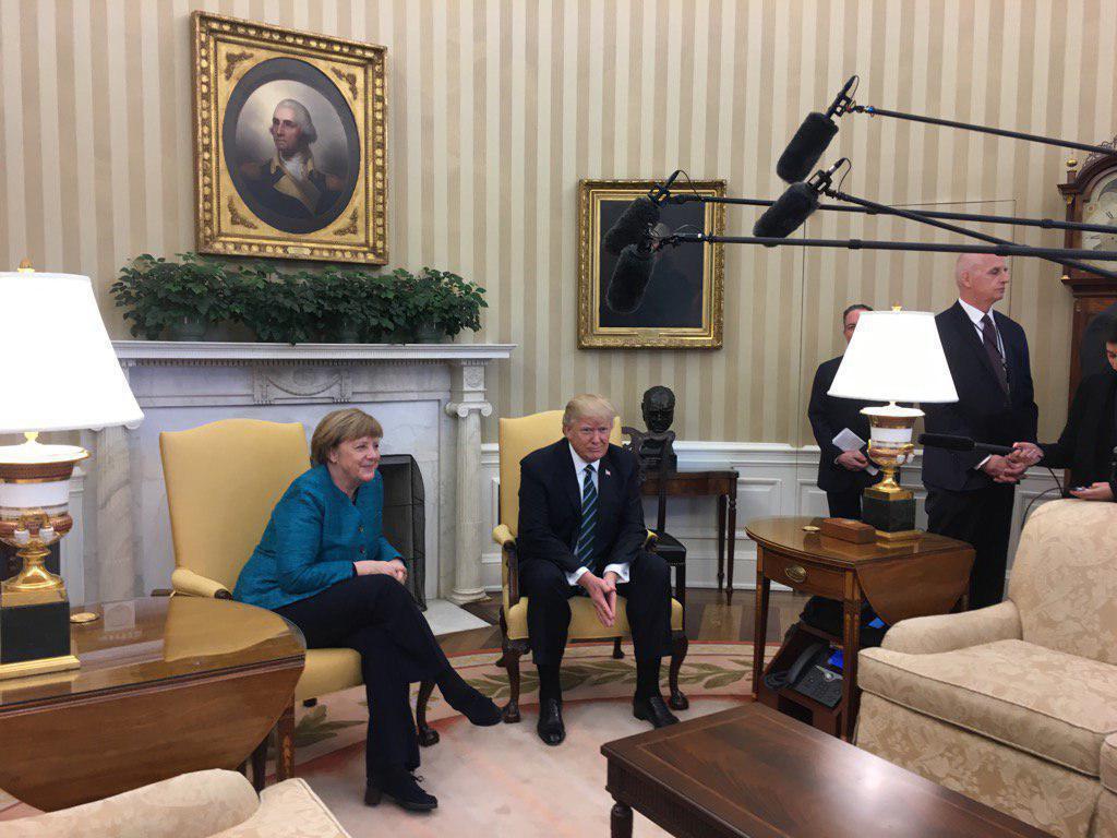 دیدار ترامپ و مرکل در کاخ سفید (عکس)