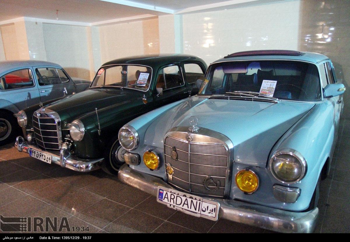 پیام تبریک ماشین نو نمایشگاه ماشین های کلاسیک و قدیمی در یزد (عکس)