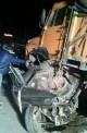 7 کشته در تصادف پراید با کامیون در کرمان (+عکس)